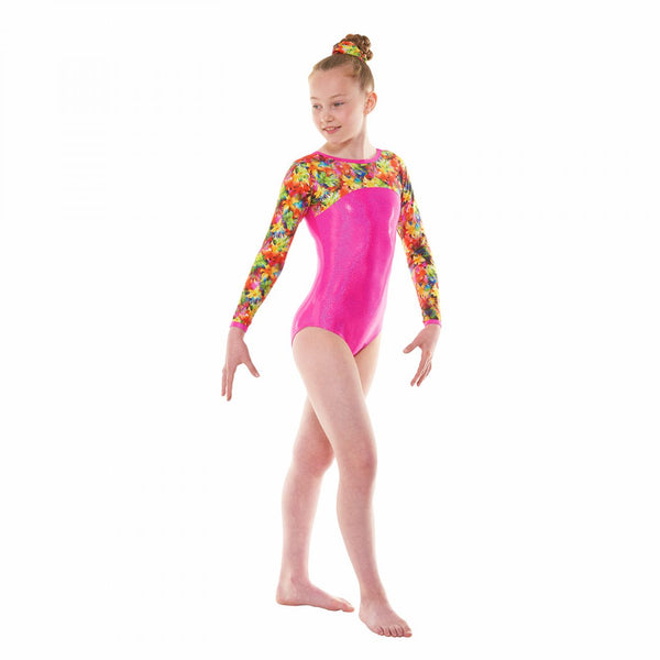 Gymnastic's Long Sleeved Leotard Gym 51 Starburst