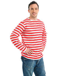 Red/ White Striped Jumper