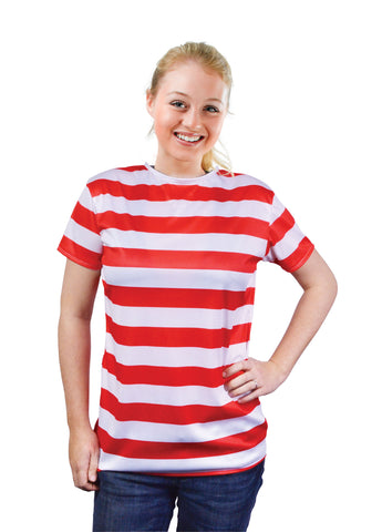 Red & White Striped t-shirt