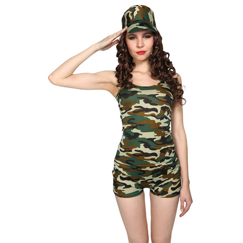 Boot-camp Babe Ladies Costume Size Small