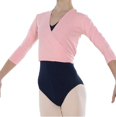Cotton Ballet Wrap Cardigan Pink