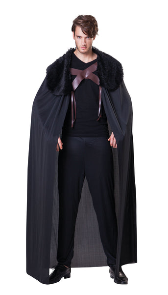 Fur Collared Mens Cape