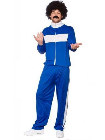 Blue/ White 80's Retro Trackie Costume