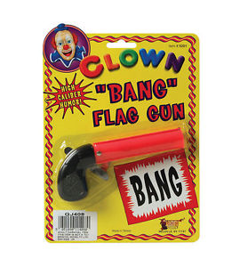 Clown 'BANG' Flag Gun