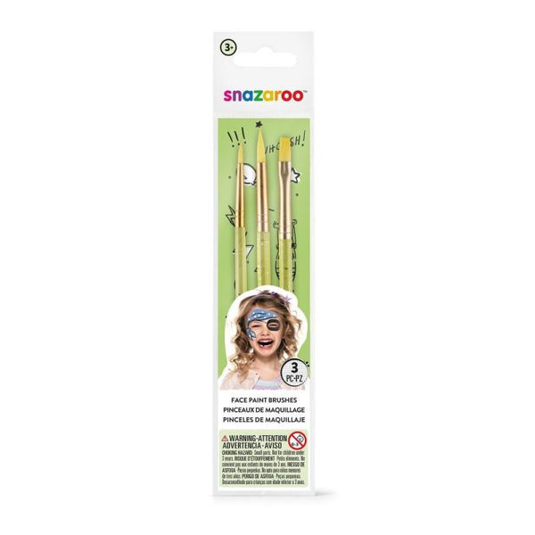 Snazaroo Brushes 3 pk