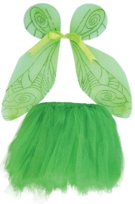 GIRL'S GREEN WINGS AND TUTU SET