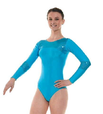 Gymnastic's Long Sleeved Leotard Gym 9 Kingfisher