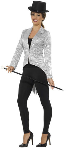 Silver Sequin Tailcoat Jacket