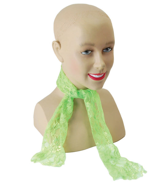Green 80's Neon Lace Scarf