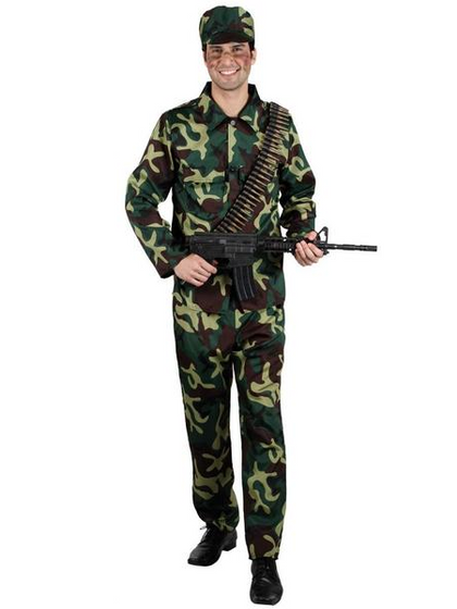 Men's Army Soldier Costume