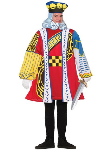 Men's King of Cards/Hearts Costume