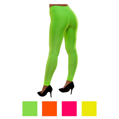 Neon Footless Tights - Green, Pink and Orange