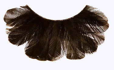 Kryolan Feather Eyelashes Black