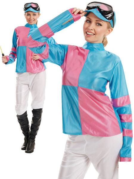 Pink & Blue Jockey Costume