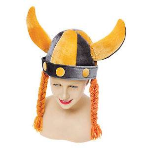 Soft Viking Helmet W/ Plaits