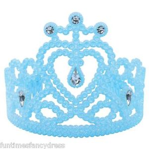 Blue Glitter Tiara With Gems
