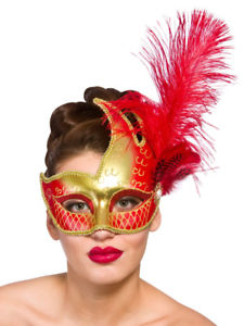 Revello Eye Mask - Red And Gold