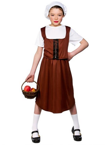 TUDOR GIRL KIDS COSTUME