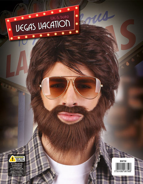 Vegas Vacation Wig & Beard
