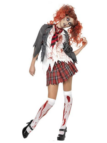 High School Horror Zombie School Girl Costume