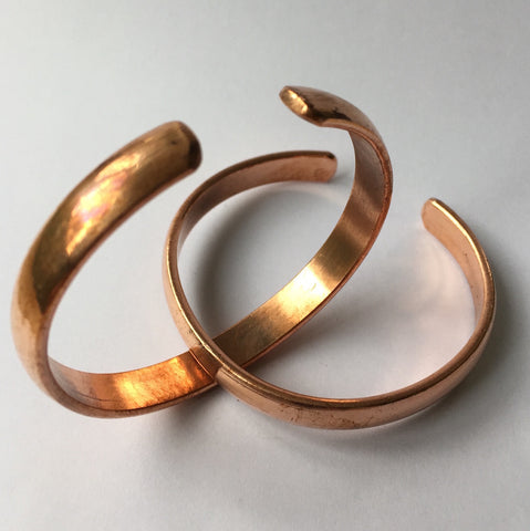Bracelet, solid copper, unpatterned - 20 pieces