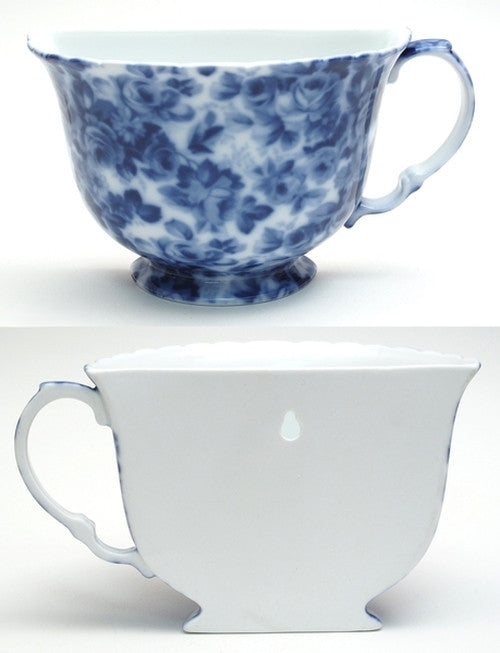 Porcelain Tea Cup Wall Pocket