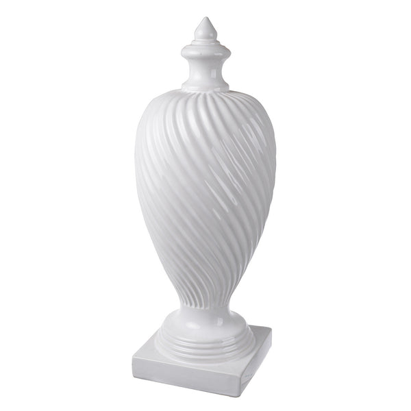 Large Calsyn White Finial