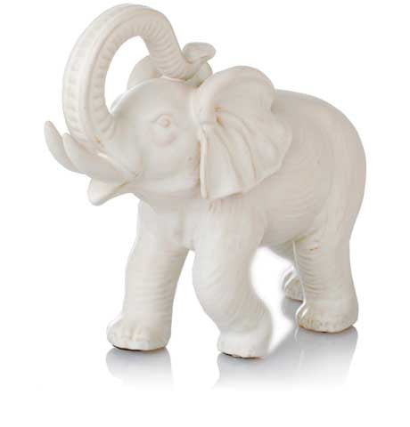 White Ceramic Elephant
