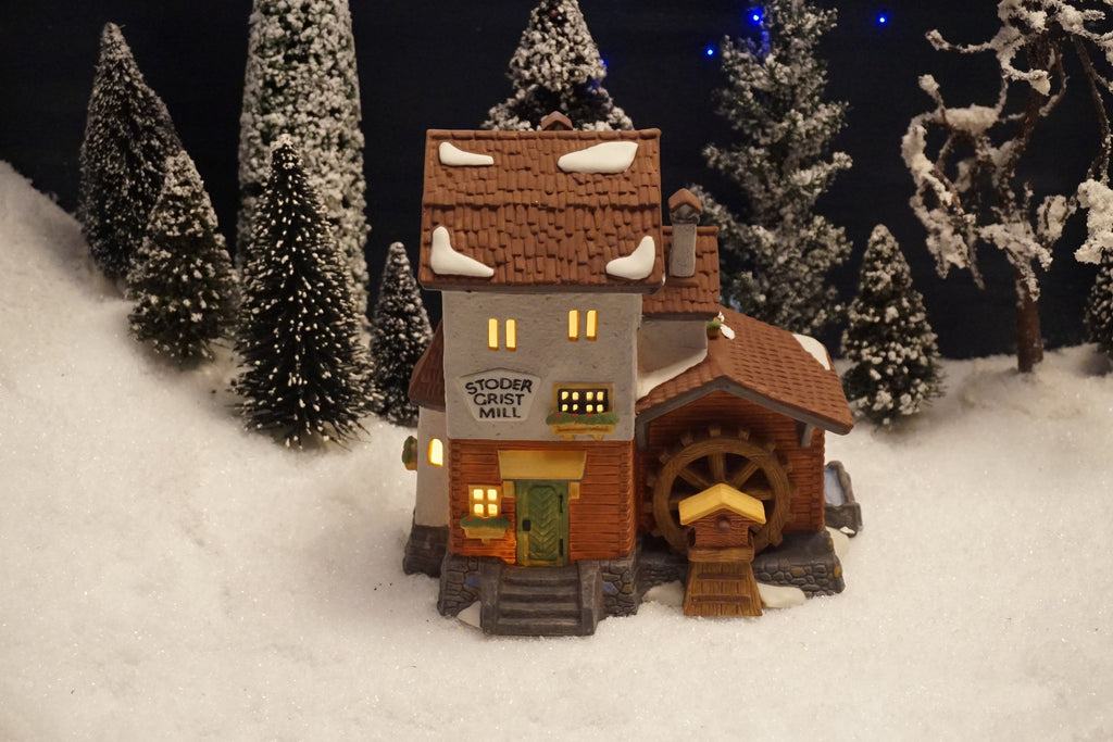 Department 56 Alpine Village Series - Stoder Grist Mill. Item number 59536.