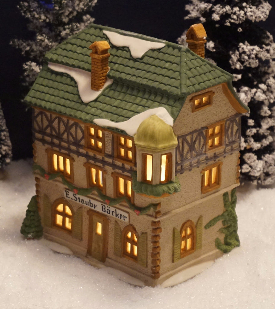 Department 56 Alpine Village Series - E. Staubr Backer. Item number 65404.