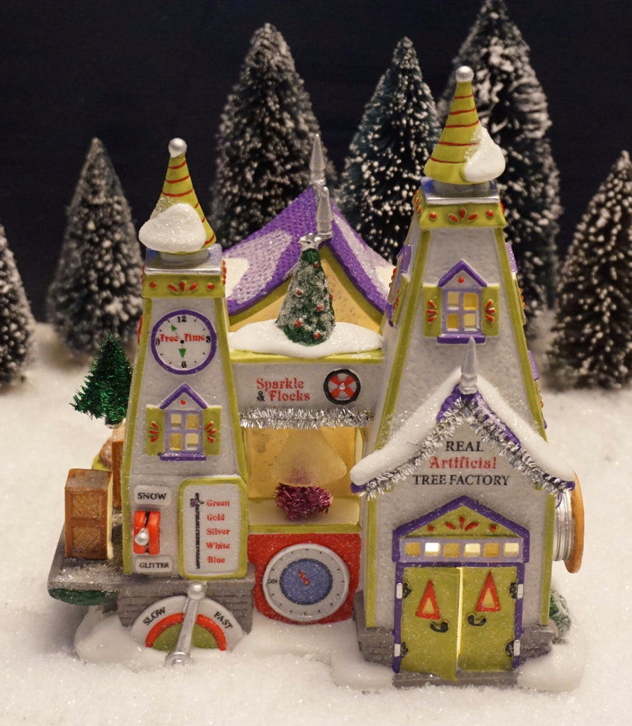 Department 56 North Pole Series - Real Artificial Tree Factory. Item number 4020205.