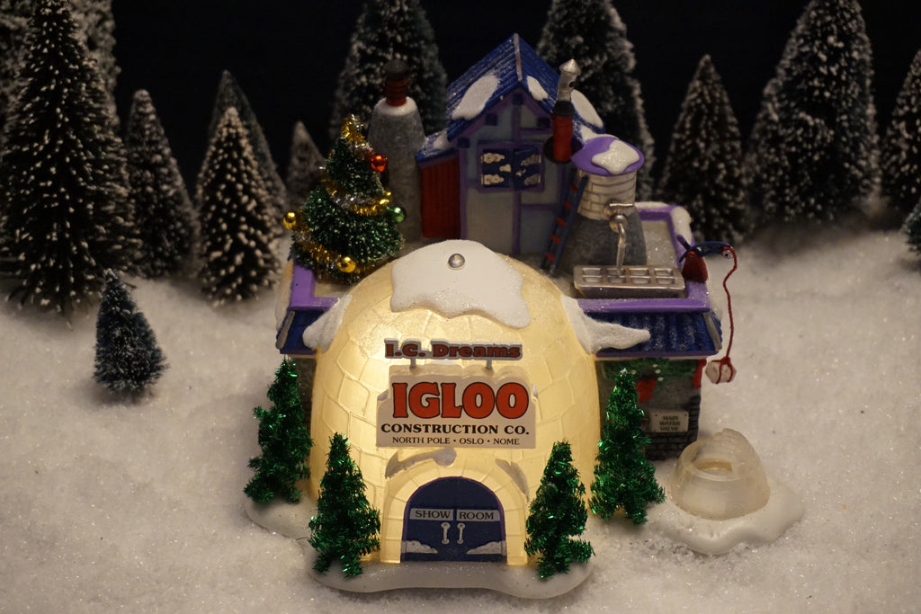 Department 56 North Pole Series - I.C. Dreams Igloo Construction Co. Item number 56785.