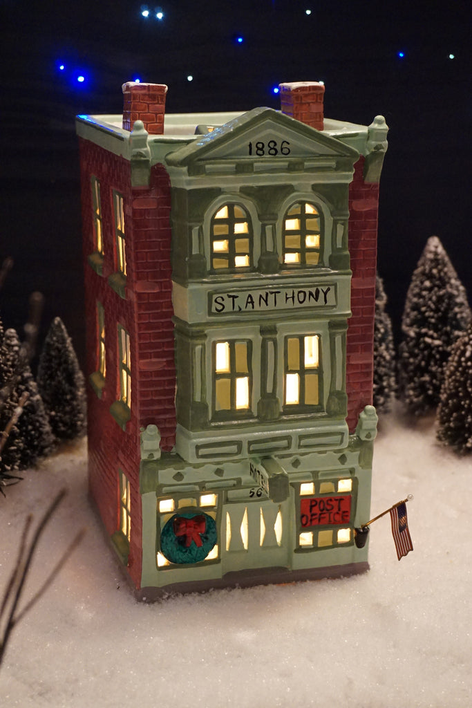 Department 56 Snow Village Series - St. Anthony Hotel & Post Office. Item number 50067.