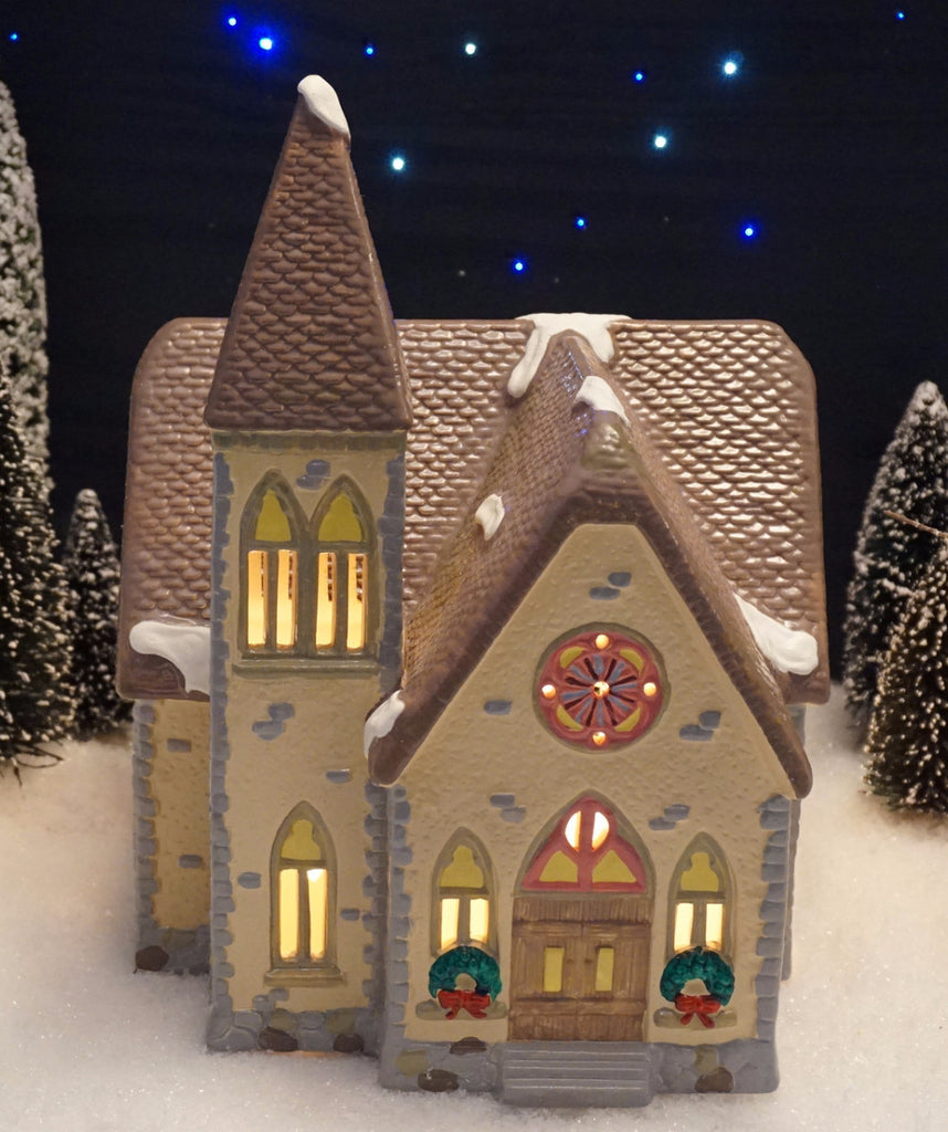 Department 56 Snow Village Series - Redeemer Church. Item number 51276.