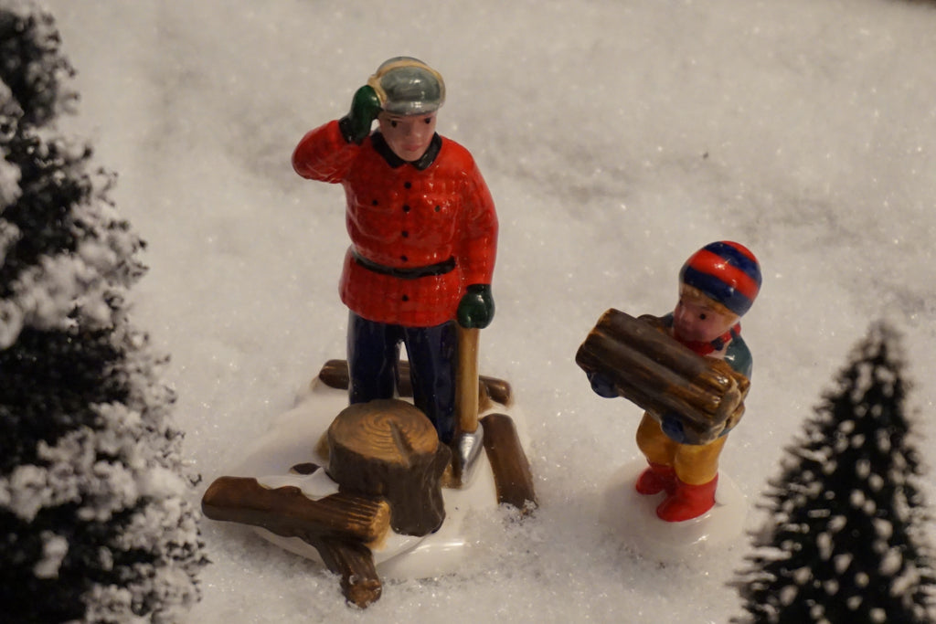 Department 56 Snow Village Series - Woodsman and Boy. Item number 51306.