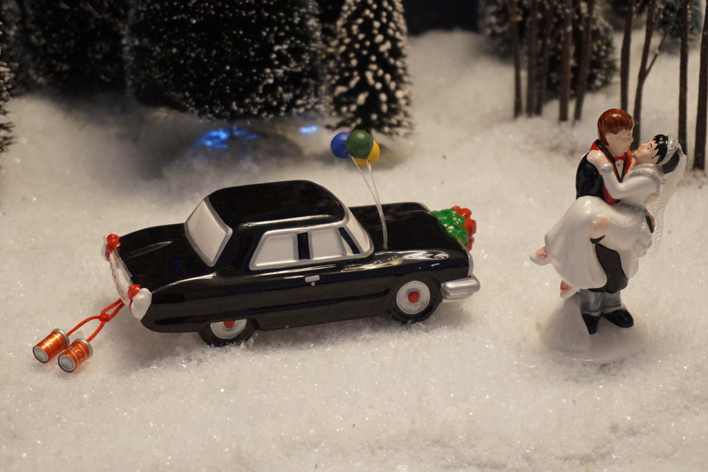 Department 56 Snow Village Series - Just Married. Item number 54879.