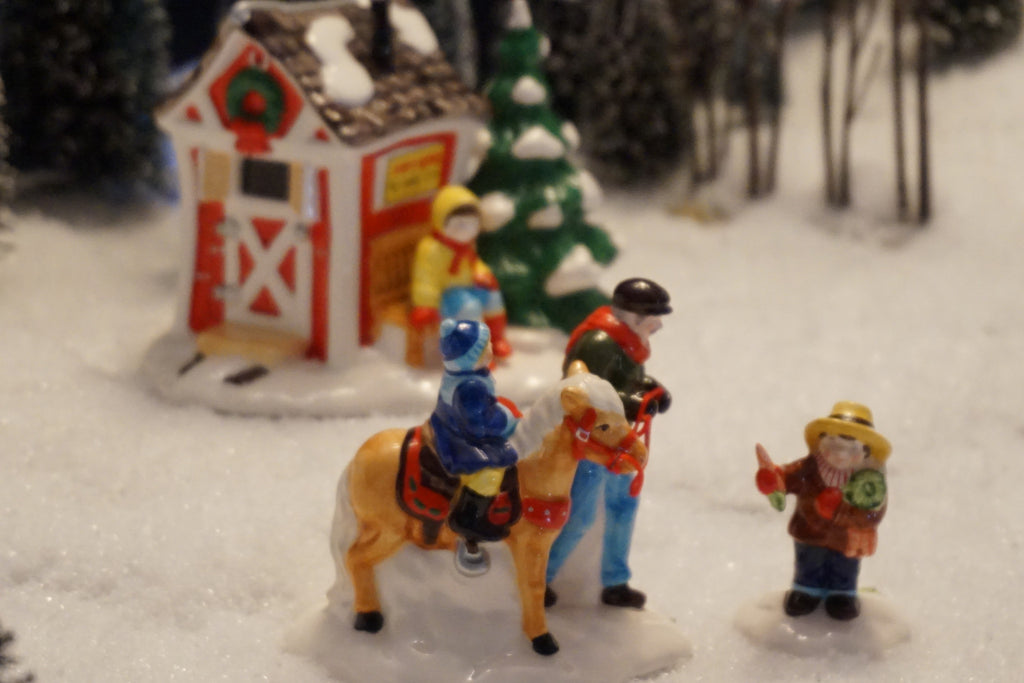 Department 56 Snow Village Series - Pint Size Pony Rides. Item number 54534.