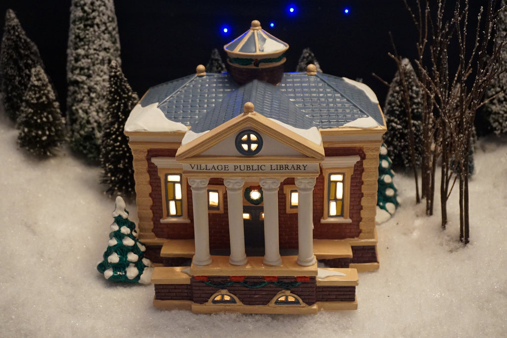 Department 56 Snow Village Series - Village Public Library. Item number 54437.