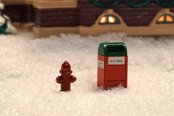 Department 56 Snow Village Series - Fire Hydrant and Mailbox. Item number is 52140.