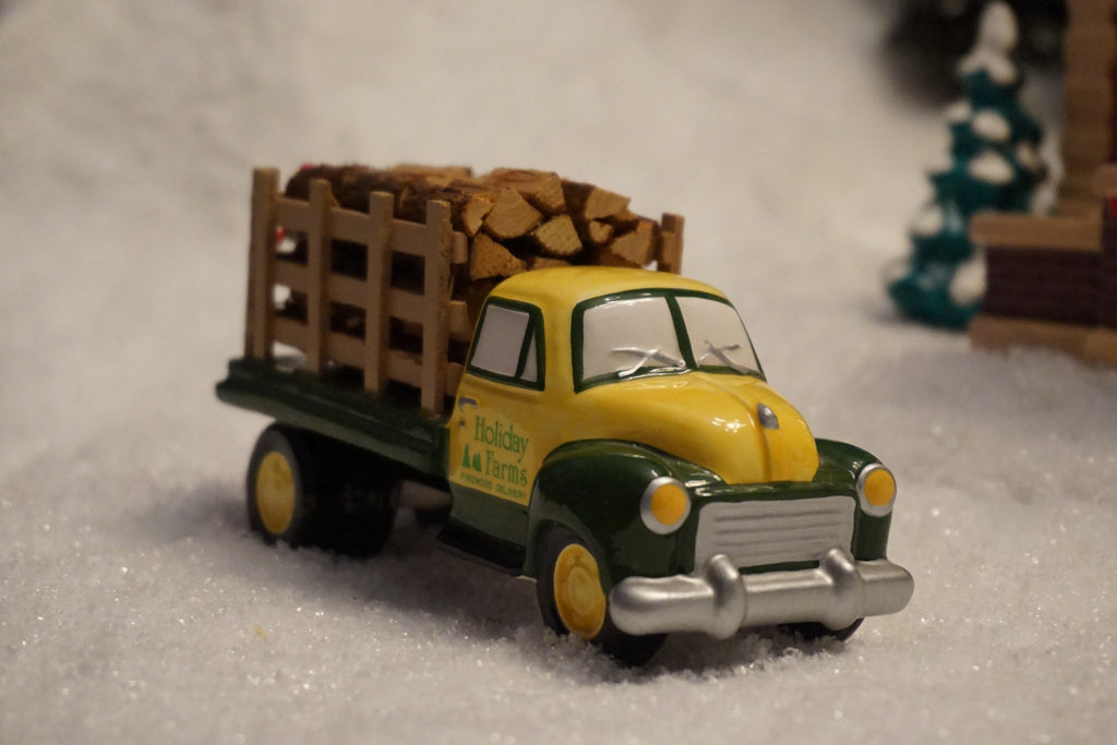 Department 56 Snow Village Series - Firewood Delivery Truck. Item number 54864.