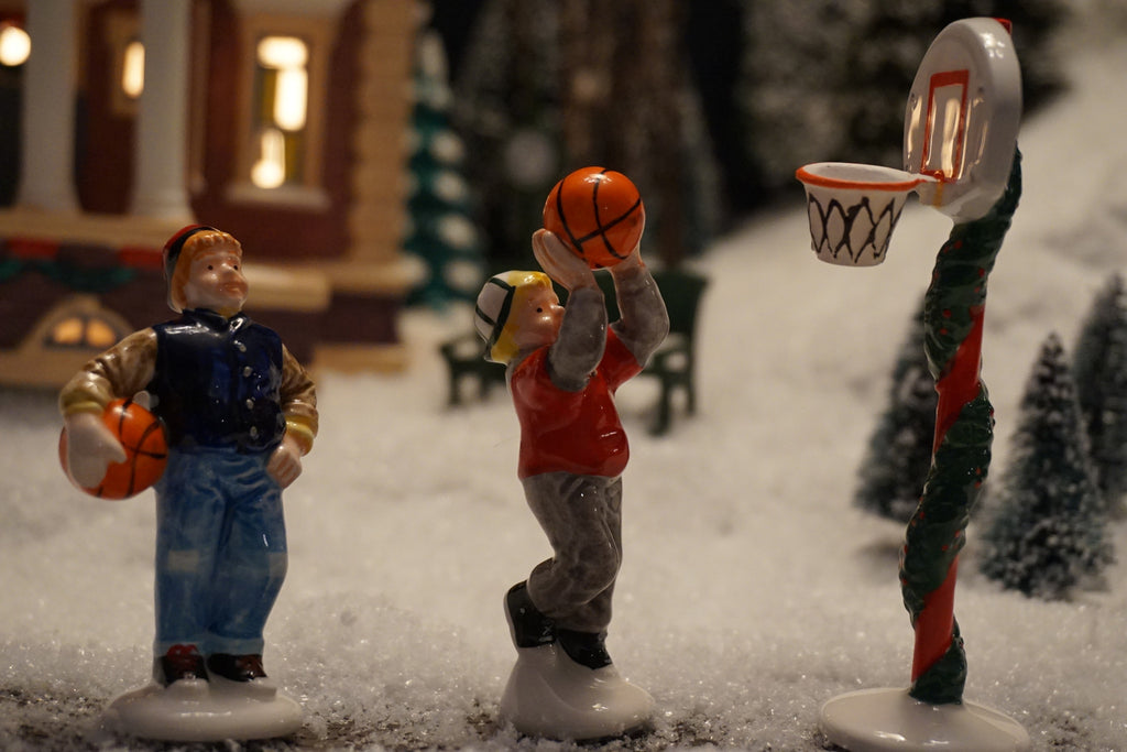 Department 56 Snow Village Series - Holiday Hoops. Item number 54893.