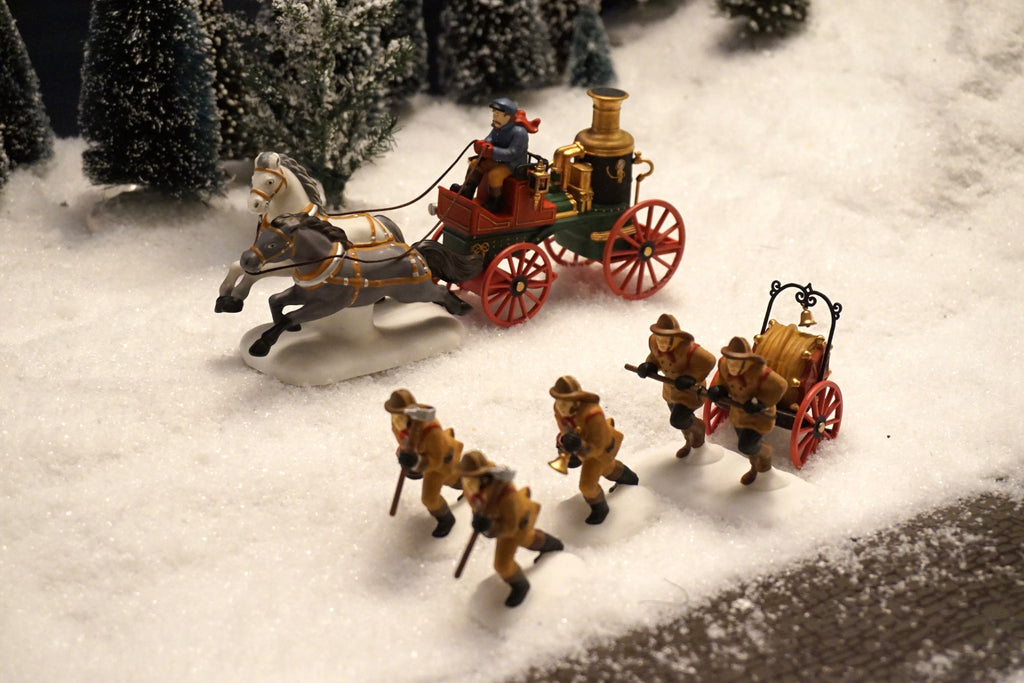 Department 56 Dickens' Village Series - The Fire Brigade of London Town. Item number 58406.