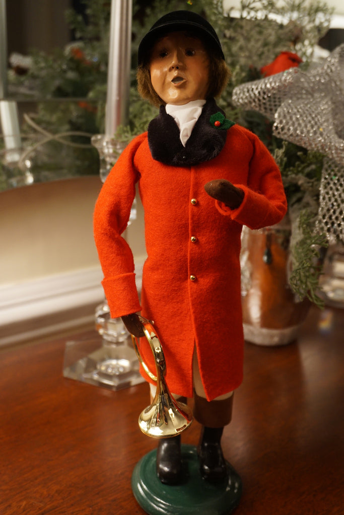 Byers' Choice Caroler - equestrian man with horn