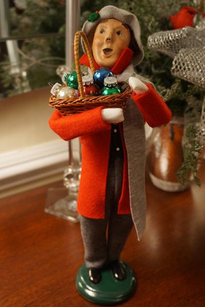 Byers' Choice Caroler - Man with basket of ornaments