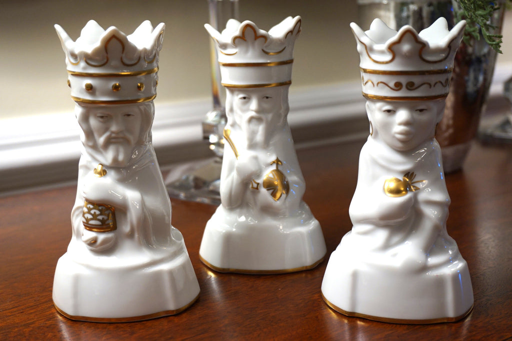 Royal Copenhagen - The Three Wise Men candleholders.