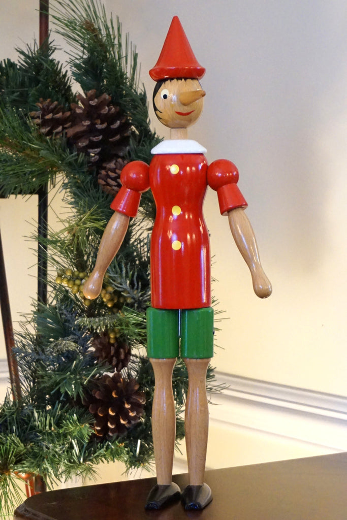 Global Art wooden Pinocchio doll