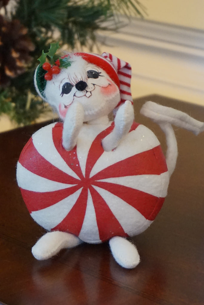 Annalee Peppermint Candy Mouse