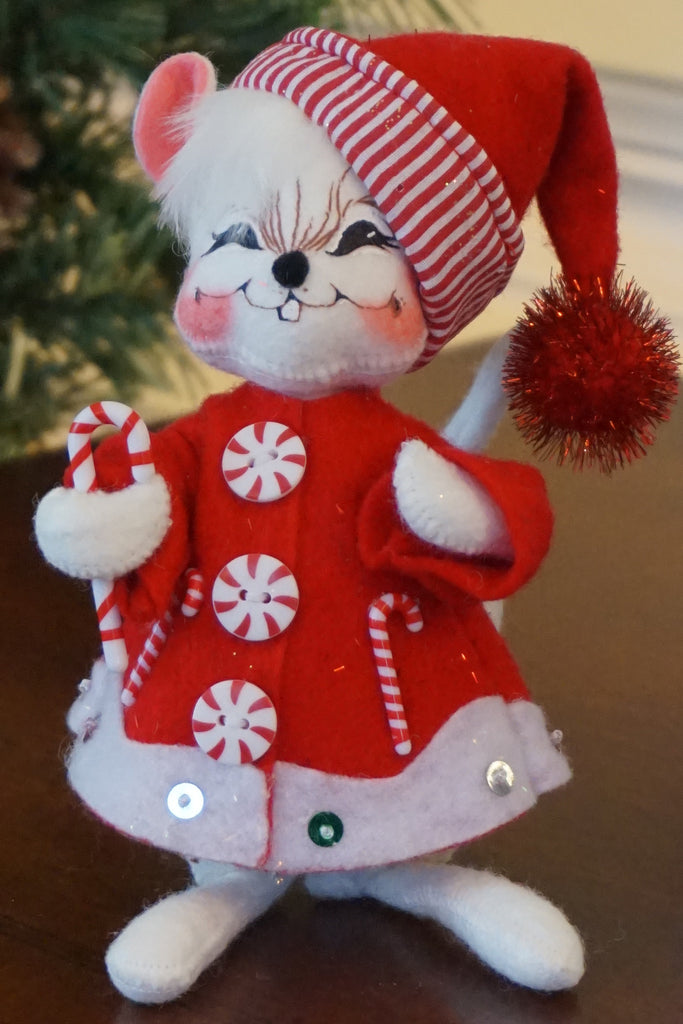 Annalee Candycane Stripe Mouse
