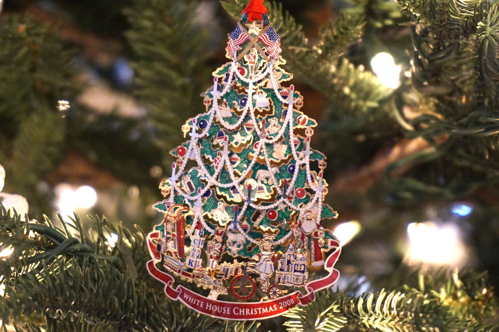 White House Historical Association - 2008 edition Christmas ornament honoring President Benjamin Harrison.