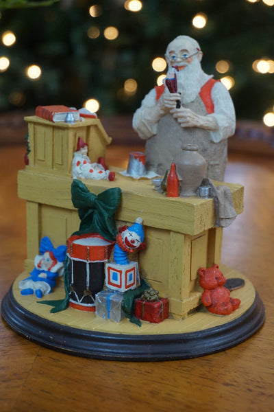 "Rhodes Studios limited edition figure titled ""Santa's Workshop""."